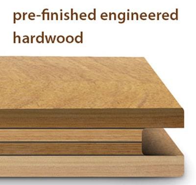 Hardwood | Side profile of engineered wood